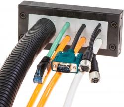 Kabeldurchführungssysteme, modularer teilbarer Rahmen DES 24M und DES 24MX