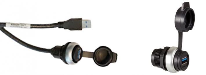 Gehäuse-Durchführungen RJ45 und USB